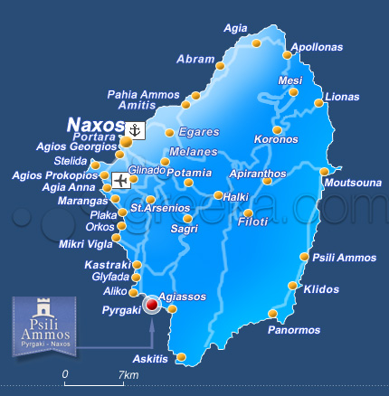 Nearest Gas Stations >> Psili Ammos Studios and Rooms in Naxos, Greece, Pyrgaki ...